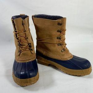 LL Bean Wool Felt Lined Duck Boots Size 9